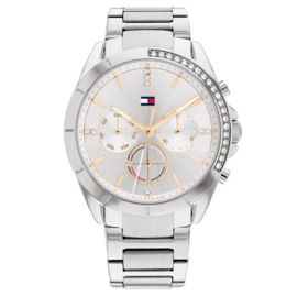 Tommy Hilfiger Kennedy Zilverkleurig Dames Horloge