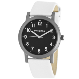 Classic Titanium Heren Horloge met Witte Horlogeband