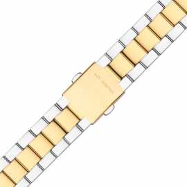 MY iMenso Quartz Gepolijste Horlogeband Zilverkleurig / Goudkleurig