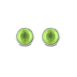 Zilveren Oorstekers met Groene Zirkonia van MY iMenso