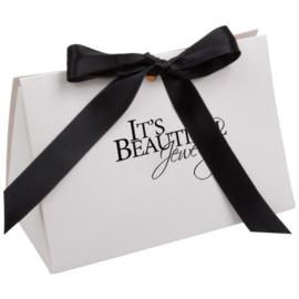 Cadeauverpakking met Zwart Satijnlint | It's Beautiful