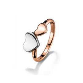 Roségoudkleurige Ring met Twee Hartjes van Tommy Hilfiger TJ2700815C