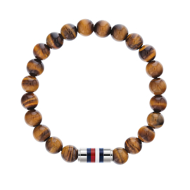 Tommy Hilfiger Armband met Bruine Natuurkralen TJ2790067