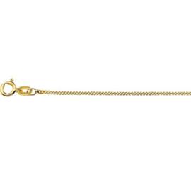 9 Karaats Gourmet Collier | Dikte: 1,0mm Lengte: 45cm