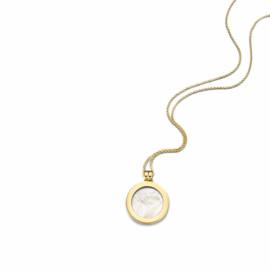 Gouden Medaillon met Pearl Insignia en Ketting van MY iMenso Gold