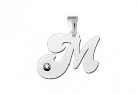 Names4ever Letter Hanger van Zilver met Zirkonia