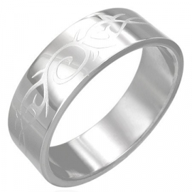 Graveer heren ring / Tribal symbolen SKU13507