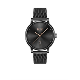 Hugo Boss Horloge Confidence Zwart Horloge met Milanese Band van Boss