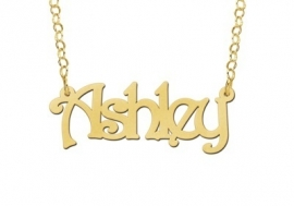 Names4ever Ashley Stijl Gouden Naamketting