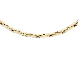 Gouden Choker Collier met Gepolijste Bewerking