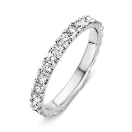 Excellent Jewelry Brede Witgouden Ring met Briljanten 1,00 crt.