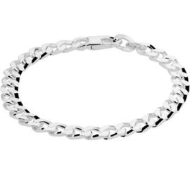 Zilveren Armband Gourmet 5,5 mm  | Lengte 19 cm