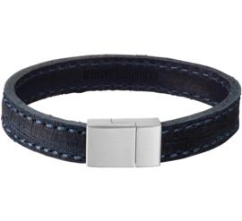 Lederen Armband met Edelstalen Sluiting
