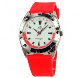 Trendy Q&Q Horloge met rood horlogeband