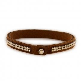 Tennis Doble Swarovski Bruine Armband van Spark Jewelry