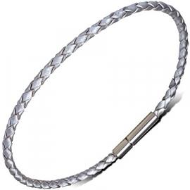 Zilverkleurige Leren Armband SKU81647