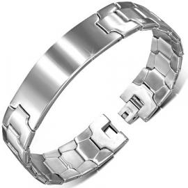 Edelstalen Graveer Armband