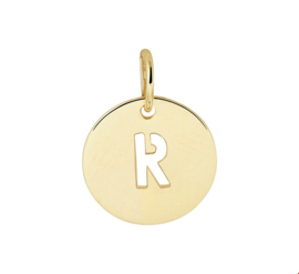 Opengewerkte Letter R Hanger van Geelgoud