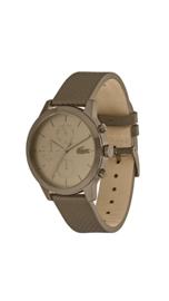 Lacoste Bruin Heren Horloge met Lederen Horlogeband