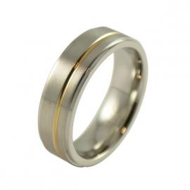 RELATIE-RINGEN in gedoubleerd goud - Graveer Ring TB2306