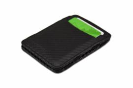 Carbon Zwarte Magic Wallet RFID Portemonnee van Hunterson