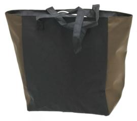 Zwarte Shopper Tas met Cognac Kleur van Davidts 70608025