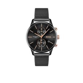 Hugo Boss Horloge Associate Zwart Horloge met Milanese Band van Boss