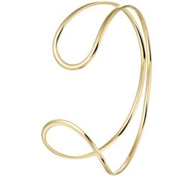 Fijne Geelgouden Armband met Dubbele Lus voor Dames
