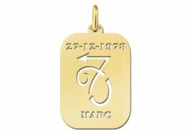 Names4ever Astrologie Steenbok Goud Hanger GHS010