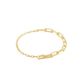 Goudkleurige Mixed Link T-Bar Bracelet van Ania Haie