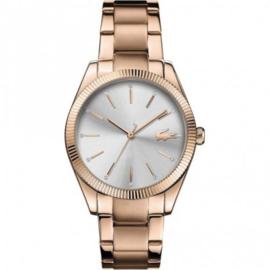 Roségoudkleurig Parisienne Horloge voor Dames met Schakelband van Lacoste