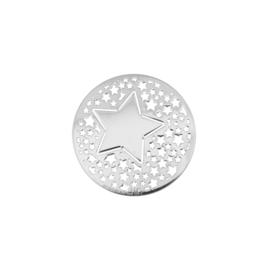 Kleine Zilveren Sterren 24mm Munt van MY iMenso