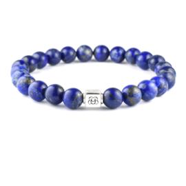Silver Classic | Lapis Lazuli Kralen Armband van Blaauw Bloed