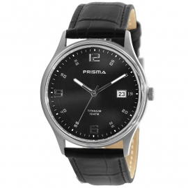 Prisma Horloge P.1729 Heren Titanium Saffierglas