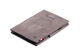 Metaalgrijze Magic Wallet Portemonnee van Cavare Garzini