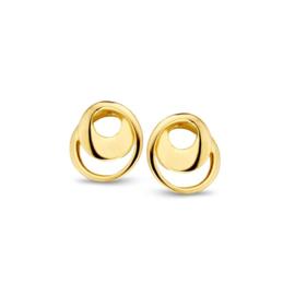 Excellent Jewelry Geelgouden Omgedraaide Oorstekers voor Dames