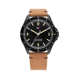 Tommy Hilfiger Maverick Zwart Heren Horloge met Zwarte Wijzerplaat
