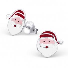 Kerstman oorbellen van zilver
