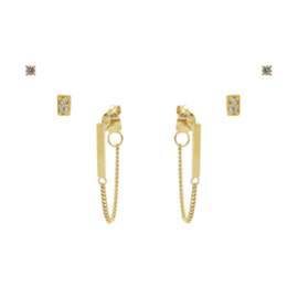 Karma Jewelry – Zesdelige I Am Gold Earparty Set - Gold