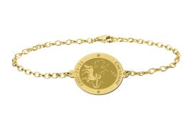 Gouden Armband met Ovaalvormige Boogschutter Sterrenbeeld Naamhanger > Names4ever