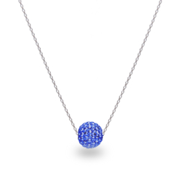 Felblauwe Pavé Glaskristallen Ketting van Spark Jewelry