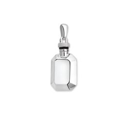 Achthoekige Urn Hanger van Gepolijst Zilver
