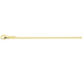 Goudkleurig Verstelbaar Gourmet Collier | Dikte: 1,4mm Lengte: 45cm
