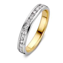 Excellent Jewelry Bicolor Ring met 0,48 crt. Briljanten