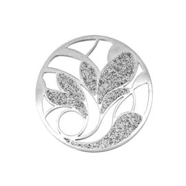 Moderne Zilveren Cover Munt met Gediamanteerde Vlakken van MY iMenso