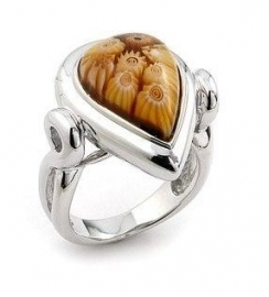Bruine ring van Alan K Jewelry 2MR180 / Maat 7