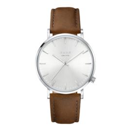 KANE Horloge met Bruin Lederen Horlogeband