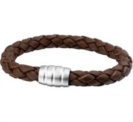 STRONG Bruin Leren Gevlochten Heren Armband