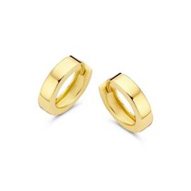 Excellent Jewelry Geelgouden Creolen met Gepolijst Oppervlak