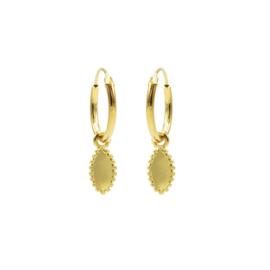 Goudkleurige Oorhangers met meerdere Bolletjes | Karma Jewelry